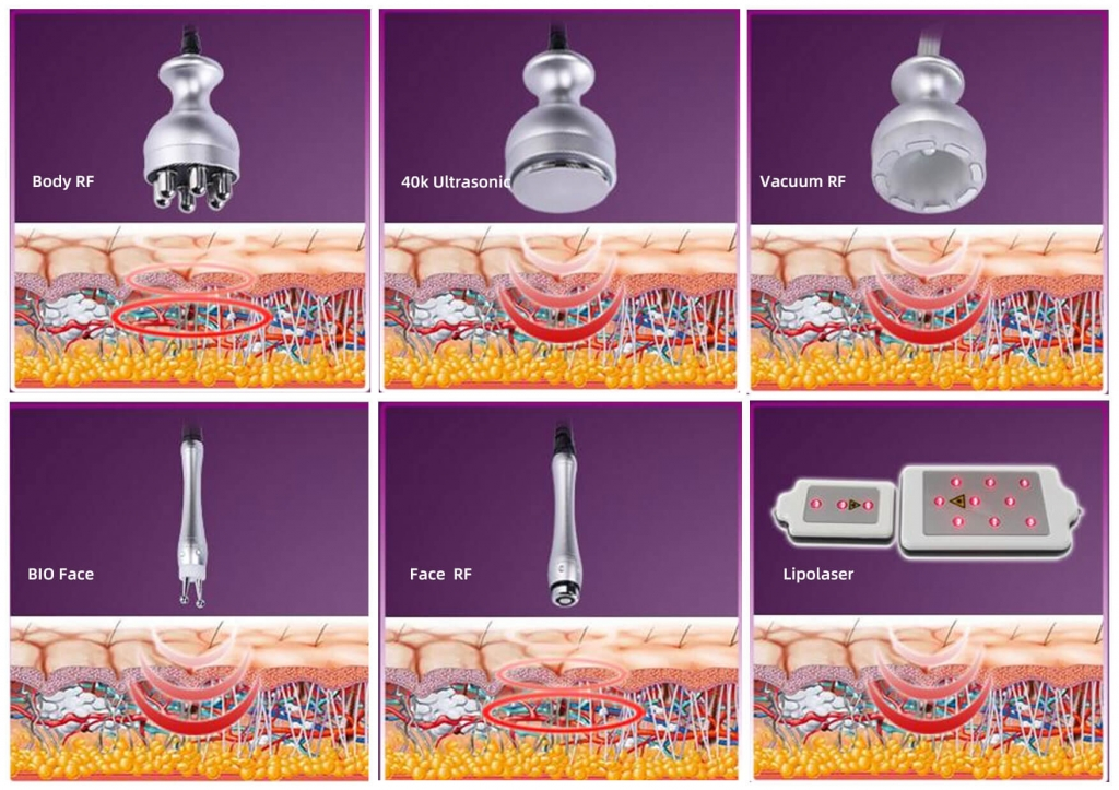 6 in 1 cavitation machine